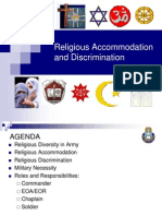 Religous Accommodation and Discrimination[1]