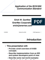 A Practical Application of the IEC61850 Communication Standard