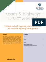 Impact Analysis - Roads & Highways