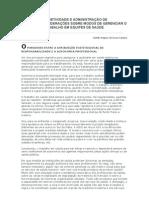 SUBJETIVIDADE E ADMINISTRAÇÃO DE PESSOAL CONSIDERAÇÕES SOBRE MODOS DE GERENCIAR O TRABALHO EM EQUIPES DE SAÚDE