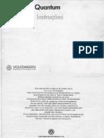 Manual do Proprietário - Santana Quantum 89