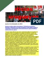 Noticias Uruguayas Lunes 5 de Diciembre de 2011