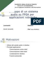 Sviluppo Di Un Sistema Audio Su FPGA Per Applicazione Robotiche