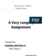 A Very Lengthy Assignment