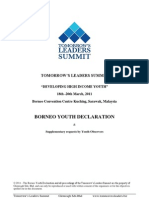 Borneo Youth Declaration (TLS 2011) & Supplementary Request - Malaysia
