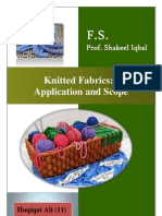 Knitted Fabric- Application and Scope