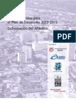 Diez propuestas para el Plan de Desarrollo 2012 - 2015 (Gobernación) (2)