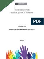 Declaratoria de la Secretaria Nacional de la Juventud de Perú