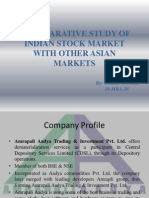 Comaparative Study of Indian Stock Market With Other