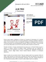"Communiqué de presse de l'album ""Rainbow Body"" de Jozef Dumoulin (BEE048)"