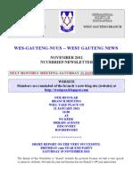 Wes-Gauteng-nuusbrief 2011-11