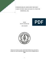 Analisis Persepsi Brand Association Menurut Pelanggan Sabun Mandi Cair Luk Pada Pt