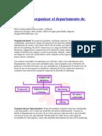 Organización DPTO MARKETING