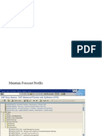 Forecasting in Apo