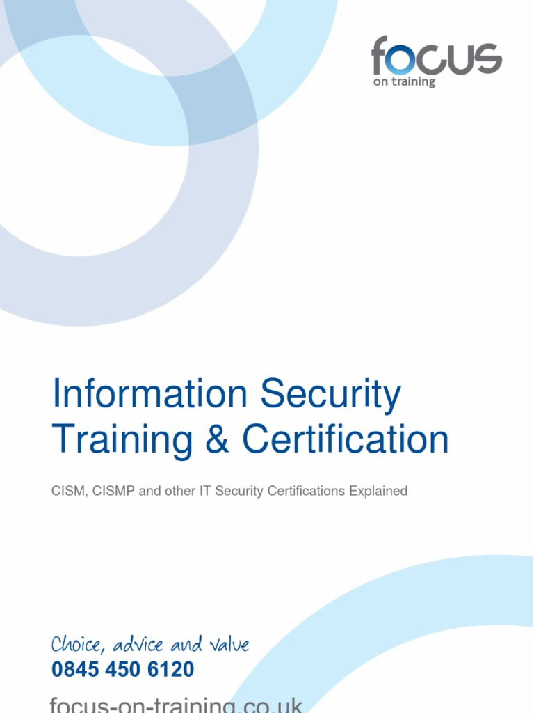 Information Security Training And Certification 102 Comp Tia