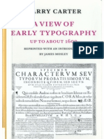"""Harry Carter, """"A View of Early Typography Up to the 1600"""" (Hypen Press, London, 2002 [1969])"""
