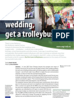 For your wedding, get a trolleybus