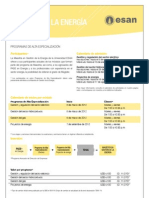 Hoja Informativa de los Programas de Alta Especialización de la Maestría en Gestión de la Energía