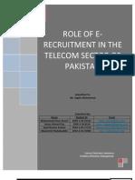 E-Recruitment in Pakistan Telecom Sector - Research Article