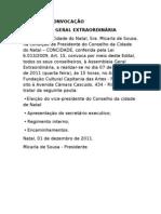EDITAL DE CONVOCAÇÃO CONCIDADES