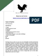 Recetas de Pollo Capón