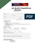 NWARW Membership Form 2012