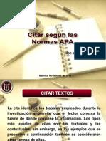 Presentacion de Citas de Normas APA
