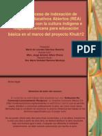 Proceso de indexación de Recursos Educativos Abiertos (REA) relacionados con la cultura indígena e hispanoamericana para educación básica en el marco del proyecto Khub12.