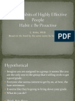 The 7 Habits of Highly Effective People Habit 1 Be Proactive