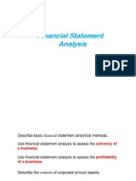 Horizantol and Vertical Analysis