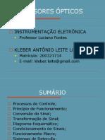 INSTRUMENTAÇÃO-SENSORES ÓPTICOS