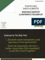 Elizabeth Lewis, Candidate, Atherton City Council Mailer