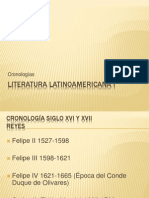 Literatura Latinoamericana I Cronología