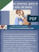 Remedios Caseros Para El Mal Olor de Boca