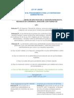 LEY Nº 1462-35 Procedimiento contencioso administrativo