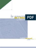 CSE (2000-2001) La gouverne de l'éducation - Logique marchande ou processus politique