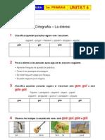 Exercicis Unitat 4 - Ortografia - La dièresi