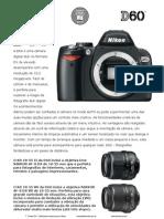 Manual Original Portugues Da Nikon d 60