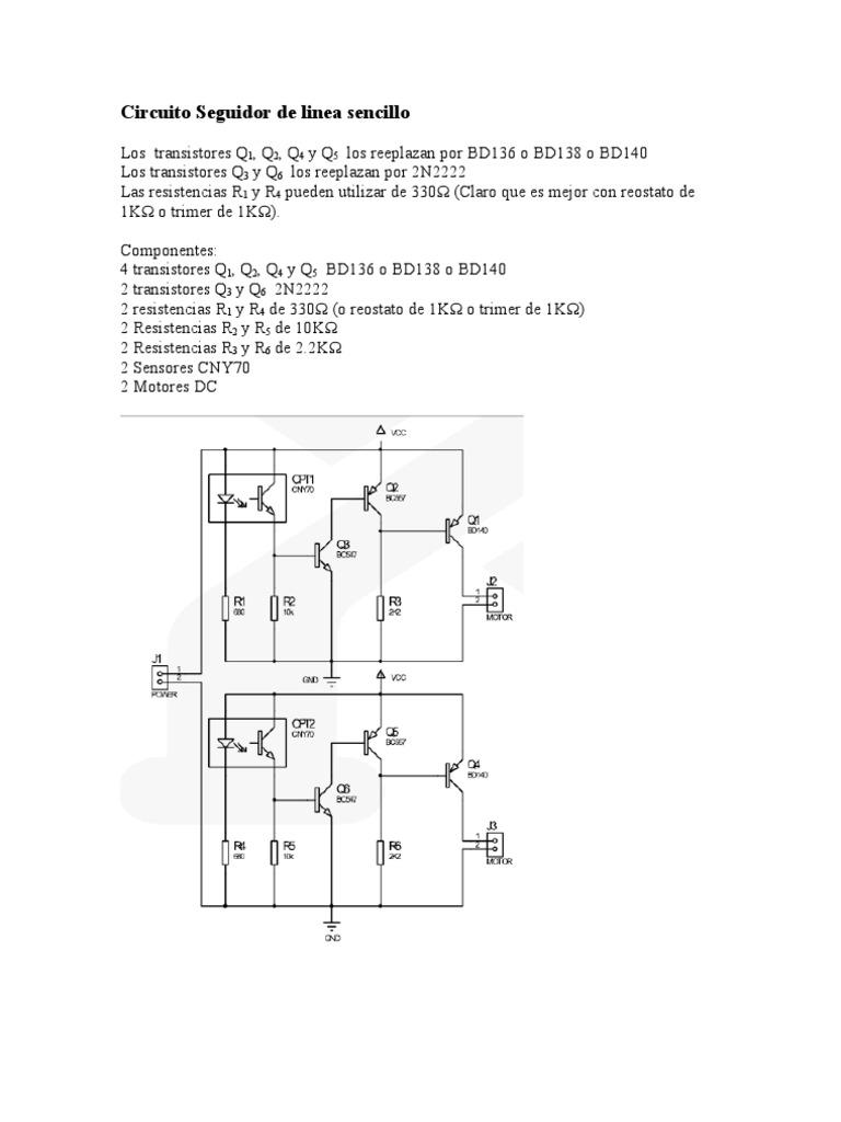 Circuito Sencillo : Circuito del robot seguidor de linea sencillo 1