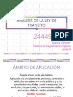 ANÁLISIS LEY DE TRÁNSITO 24449