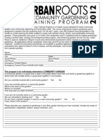 2012 Urban Roots Application