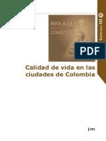 Calidad de Vida en Las Ciudades de Colombia