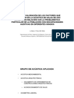 ANÁLISIS DE LOS FACTORES QUE INTERVIENEN EN ACÚSTICA DE AULA
