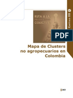 Mapa de Clusters No Agropecuarios en Colombia
