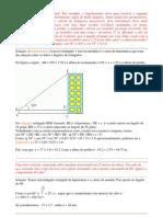 Trigonometria – Exercicios Resolvidos ângulos de triângulos