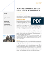 First Church of Christ, Scientist Case Study