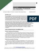 Recommendation Eval Framework V2!09!22 2011
