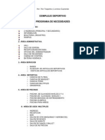programa COMPLEJO DEPORTIVO