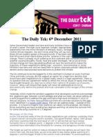 COP17 Daily Tck 8 6/Dec
