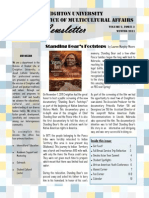 Office of Multicultural Affairs Newsletter Fall 2011- Issue 3